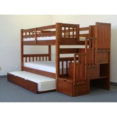 Stairway Bunk Bed Twin over Twin in Expresso with ($765)