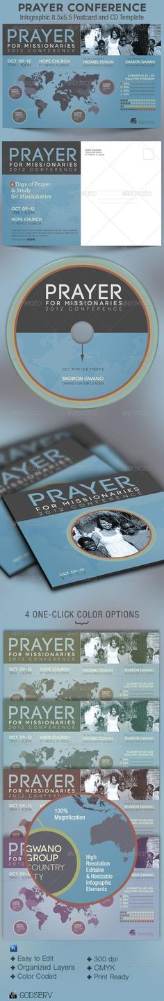 Prayer Conference Church Flyer and CD Template