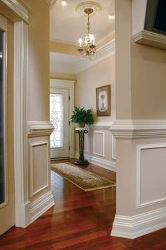 Living Room Paint Colora With Wood Trim Wainscoting 18 Ideas Home Renovation, Home Remodeling, Remodeling Contractors, Bathroom Remodeling, Moldings And Trim, Crown Moldings, Crown Molding Styles, Wainscoting Styles, Faux Wainscoting