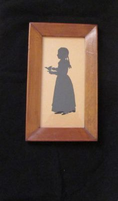 Antique Silhouette of 19th Century Little Girl Holding Bird 11 X 6.5 in Art, Art from Dealers & Resellers, Folk Art & Primitives | eBay