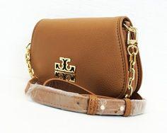 9edd67704993 Tory Burch Britten Mini Cross Body Bag Brown Leather Crossbody Bag