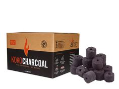 Afire KOKO Charcoa - Made from 100% coconut fiber, it burns cleaner, hotter and longe | 35.00 (24 lb box)