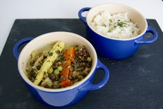 Curry Coco, Curry Vert, Dahl, Grains, Beef, Food, Cilantro, Frozen Peas, Vegetable Curry