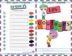 This level one booklet teaches french colours utilizing cute graphics of donuts! It is perfect for beginners to french and is very easy to follow. JAUNE, VIOLET, BLEU, NOIR, BRUN, VERT, GRIS, BLANC,ORANGE, ROSE ROUGE