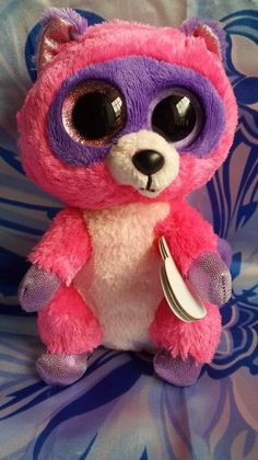 4c29e3099d8 TY beanie boos collection beanie big eyes stuff doll toy 6 inches raccoon