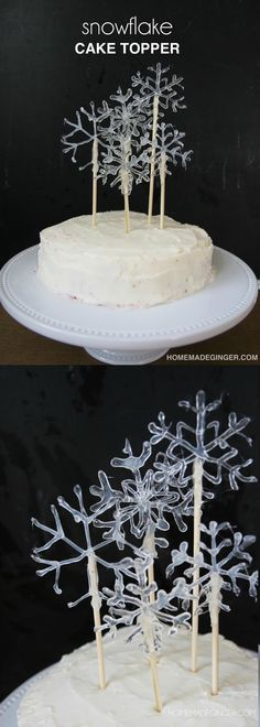 Make hot glue snowfl