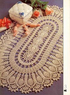 Super Oval Doily with Chart. Maria Chike: Caminhos de Crochê use colors as the doily on this site: http://crochet103.blogspot.ca/2014/05/doilies.html?m=1. Ns