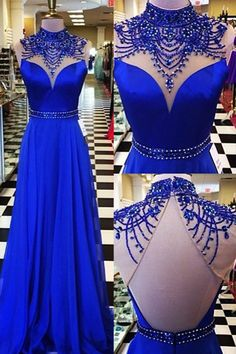 royal blue party dresses, open back prom dresses,sparkling long prom dreses,elegant evening dresses,deep v-neck royal blue prom party dreses.vestidos