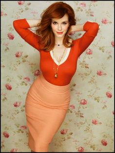 Sexy form-fitting outfit with great color! Christina Hendricks