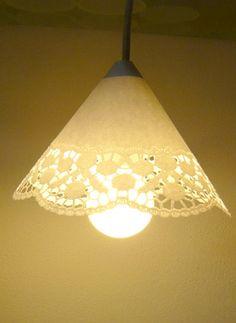 Tortenspitzen Lampe