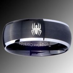 Spiderman wedding band for him Marvel Wedding Ideas Pinterest