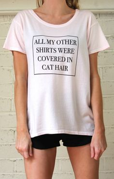 Cat Lover Flowy Tee  / Crew Neck, Organic Cotton