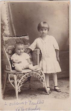 Houlsene and Truley Alexander - Postcard addressed to J.P. Alexander, Doxey, Oklahoma