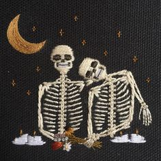 folks keep asking why their relationships fall apart, and I always wonder if it's because people don't dance together the way they used to. warm weather brings on so many opportunities for all different degrees of love... do yourselves a favor, turn off the fucking TV, and please don't forget about romance. SOLD #tinycupneedleworks