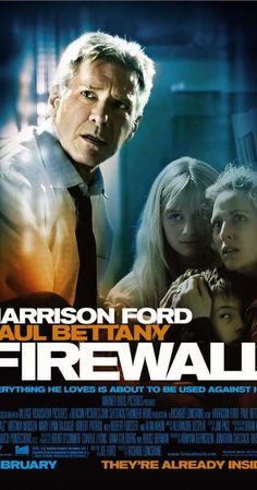 Directed by Richard Loncraine. With Harrison Ford, Virginia Madsen, Paul Bettany, Carly Schroeder. A security specialist is forced into robbing the bank that he's protecting, as a bid to pay off his family's ransom. Harrison Ford, Original Movie Posters, Movie Poster Art, Film Posters, Cinema Posters, Paul Bettany, Carly Schroeder, Capas Dvd, Audio