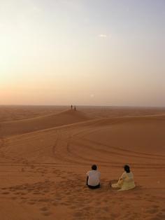 rode a camel in the U.A.E. outside Dubai