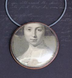 pendant (sterling silver, copper, antique engraving) Roberta and David Williamson