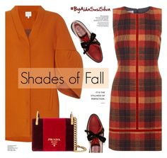 """Shades of Fall:Orange and Red"" by aidasusisilva ❤ liked on Polyvore featuring Hobbs, Delpozo, Marc by Marc Jacobs, Prada and Amica"