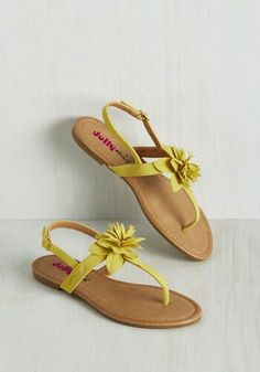 72563aa78 Bloom with a View Sandal. Gliding along these muted yellow thong sandals