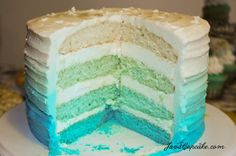 Blue Ombre Cake by JavaCupcake-91