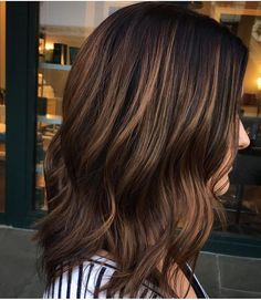 """330 Likes, 23 Comments - Mane Interest (@maneinterest) on Instagram: """"Balayage brunette - gorgeous both straight and curly. Color by @hairbybrittanyy  #hair #hairenvy…"""""""