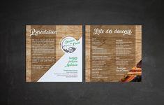 Création d'un flyer de présentation pour Douceurs du Chalet. Présentation de leur produit au verso. Creations, Design, Gentleness