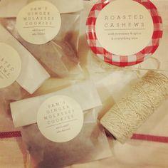 Glassine envelopes + snacks for wedding guests! via brunchwithdarling.com  (http://pinterest.com/pin/82683343128419966/ would go marvelously!)
