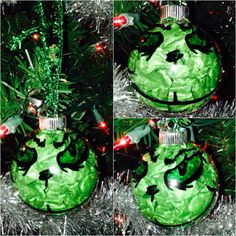 #Grinch #ornament I made for #christmas #grinchwhostolechristmas #diy #crafts #holiday #simple #fun