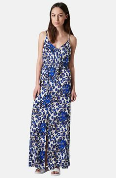 Topshop Print Cross Back Maxi Dress available at #Nordstrom
