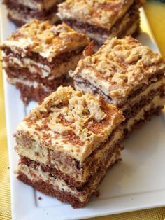 Polish Desserts, Polish Recipes, Dessert Cake Recipes, Dessert Bars, Food Cakes, Cupcake Cakes, Slovak Recipes, Chocolate Caramel Cake, Pumpkin Cheesecake