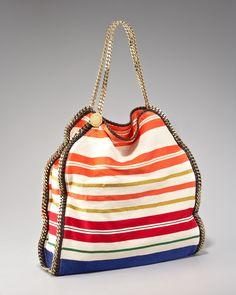 e556cdd58b02 Stella Mccartney Striped Falabella Tote in Multicolor