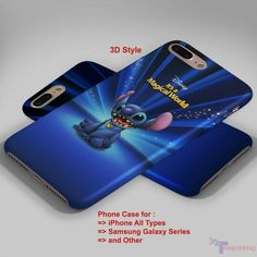 Lilo Stich Blue Disney - Personalized iPhone 7 Case, iPhone 6/6S Plus, 5 5S SE, 7S Plus, Samsung Galaxy S5 S6 S7 S8 Case, and Other