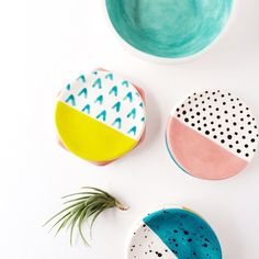 Patterned ring dishes by Quiet Clementine