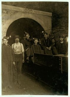 National Child Labor Committee. No. 72. Main entrance, Gary W. Va. Mine. Drivers and miners going to work 7 A.M. stay underground until 5:30 P.M. Location: Gary, West Virginia.  Library of Congress Prints and Photographs Division Washington, D.C.