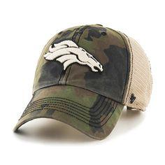 2c53c8f8c9529 Denver Broncos 47 Brand Green Howitzer Camo Burnett Mesh Adjustable Hat Cap