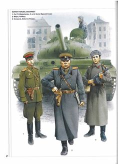 Russiske soldater i Budapest 1956 med en T 54 i baggrund Army History, Army Police, Ww2 Uniforms, Military Drawings, Soviet Army, Military Pictures, Army Uniform, Red Army, German Army