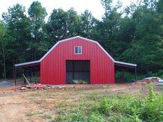 Beautiful Red Steel Barn 2
