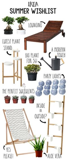 Ikea Summer Wishlist items for the bright, sun and plant loving home!
