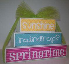 Nap Time Crafts: Spring Stacker