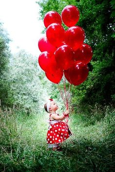 Balloons to match her dress