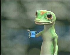 Geico Gecko came to tea last year. He was visiting the old country.