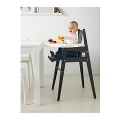 BLÅMES Highchair with tray - black - IKEA...inexpensive!