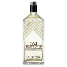 Capturing the universal freshness of citrus fruits, Eau Universelle will appeal to men and women alike. Formulated with the essential oils of Mediterranean bergamot and grapefruit, this eau de cologne is a real whirlwind of freshness, built on a harmony of invigorating sunny citruses. Our generously sized bottle, modeled after the archicture of Provençal fountains, will provide long-lasting refreshment.