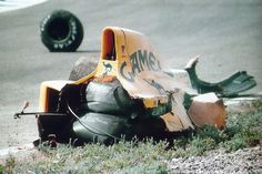 1990 Spanish Grand Prix Martin Donnelly's Lotus after the crash