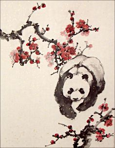 Spring panda by Dragon-Koi.deviantart.com