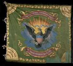 The fighting Irish, Civil War flag of the 9th Massachusetts. Found on Google from gettysburgflag.com