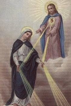 Graces poured out to us from the hands of Our Lady, directly given by Jesus her son.to lead us to her son Jesus. Miséricorde Divine, Divine Mercy, Blessed Mother Mary, Blessed Virgin Mary, Catholic Prayers, Catholic Saints, Catholic Art, Roman Catholic, Religion