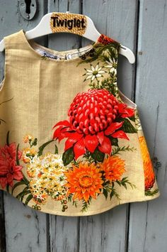 Final 12 months I met Dana Levistone from Twiglet (designer from Melbourne and mom of … - Refashion Diy Clothing, Sewing Clothes, Clothing Patterns, Sewing Patterns, Shirt Patterns, Barbie Clothes, Dress Patterns, Towel Dress, Vintage Embroidery