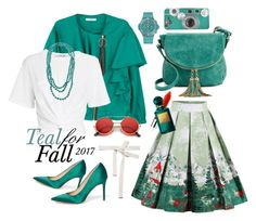 """""""Teal-Me-Up"""" by maykarsy ❤ liked on Polyvore featuring MANGO, Sam Edelman, Deluxity, T By Alexander Wang, Marni, Clinique, Hublot, Barse and Tom Ford"""