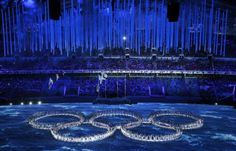 2/153 Ivan Sekretarev SOCHI SCENE: Rings, take 2 Performers create the Olympic rings during the closing ceremony of the 2014 Winter Olympics...
